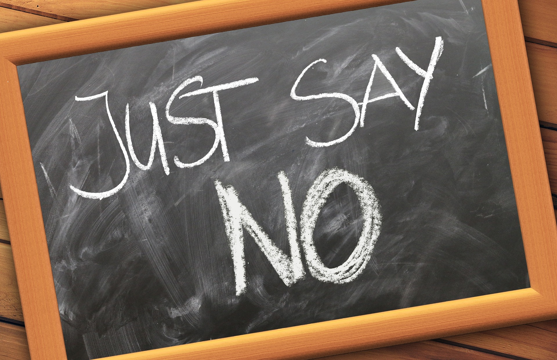 Editorial: Learning to Say No